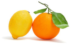 Orange and lemon Stock Images