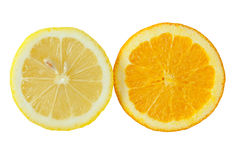 Orange and lemon Royalty Free Stock Photos