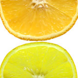 Orange and lemon. Orange and lemon on a white background Stock Images