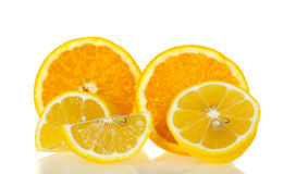 Orange and lemon Stock Image