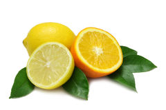 Orange and Lemon Stock Photos