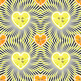 Orange and Lemon on abstract Seamless pattern Royalty Free Stock Photos