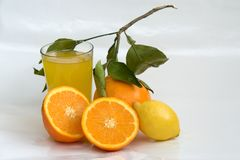 Orange and lemon beverage Stock Photos
