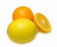 Orange and lemon composition Stock Photo