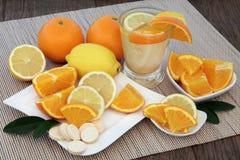 Orange and Lemon Drink Royalty Free Stock Images