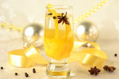 Orange and lemon gin with spices Stock Photo