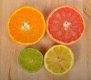 Orange, lemon and grapefruit Royalty Free Stock Image