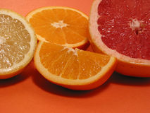 Orange lemon grapefruit Royalty Free Stock Photo