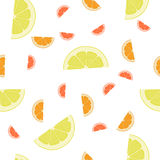 Orange, Lemon ,Grapefruit seamless background pattern. Stock Images