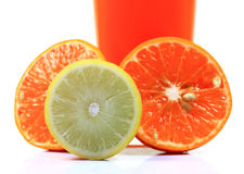 Orange and lemon halves Stock Photography