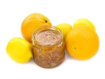 Orange and lemon jam Stock Photos