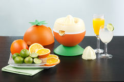 Orange and lemon juice blender machine Royalty Free Stock Images