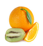 Orange, lemon and kiwi slices Stock Photography