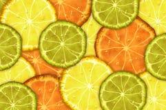 Orange lemon lime Stock Photography
