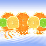 Orange, Lemon and Lime Abstract Stock Photo