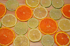 Orange, lemon and lime slices Royalty Free Stock Photo