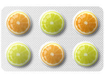 Orange and lemon medicine Stock Photos