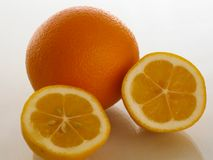 Orange and lemon rich taste and health royalty free stock image