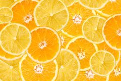 Orange And Lemon Slice Abstract royalty free stock photo