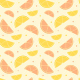 Orange and lemon slice seamless pattern background illustration Royalty Free Stock Images