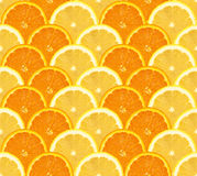 Orange and lemon sliced pattern, seamless background Stock Photo