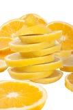 Orange and lemon slices Royalty Free Stock Photo