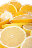 Orange and lemon slices Stock Photography