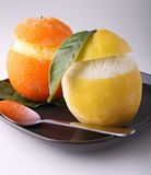 Orange and lemon sorbet Royalty Free Stock Image