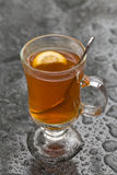 Orange lemon tea in the rain Royalty Free Stock Photos
