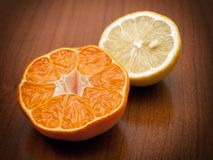 Orange and lemon Stock Photo
