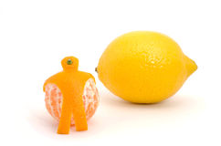 Orange and lemon Stock Images