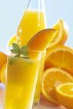 Orange lemonad med apelsiner Royaltyfri Fotografi