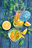 Orange lemonade Stock Image