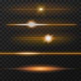 Orange lens flares Stock Photo