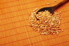 Orange lentil Stock Photography