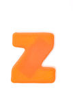 Orange letter z Stock Images