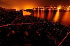 Orange Leuchten Stockfoto