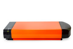 Orange li-ion battery for e-bike Royalty Free Stock Photo