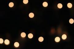 Orange Licht, Kreis und hellgelbes Stockbild