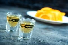 Orange licuor stock photography