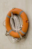 Orange life buoy Royalty Free Stock Photos