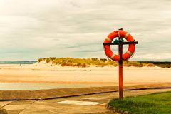 Orange life buoy Stock Photography