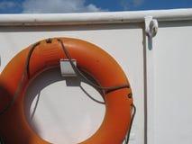 Orange life buoy in Goteburg Stock Images