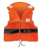 Orange Life Jacket. (Insurance) on white stock illustration