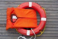 Orange Life Jacket. Royalty Free Stock Photo