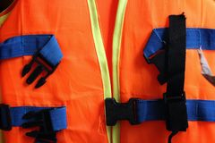 Orange life jacket Stock Photography