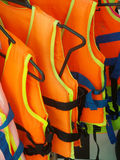 Orange life jacket Royalty Free Stock Photography