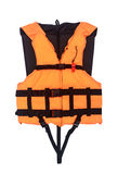 Orange Life Jacket  Isolated with clipping path Stock Photo