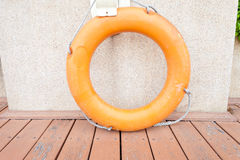 Orange life preserver Stock Photography