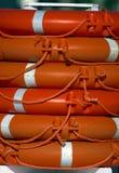 Orange Life Rings Royalty Free Stock Images